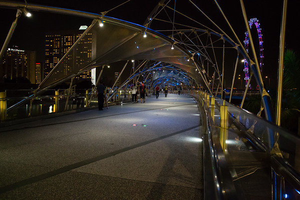 To the right, Singapore Flyer.