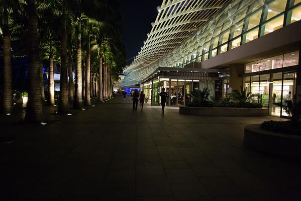 Outside Marina Bay Sands.