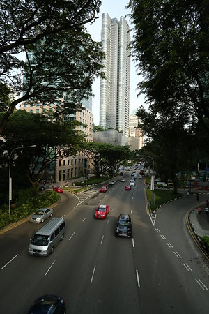 Orchard Boulevard, famous for the shops.
