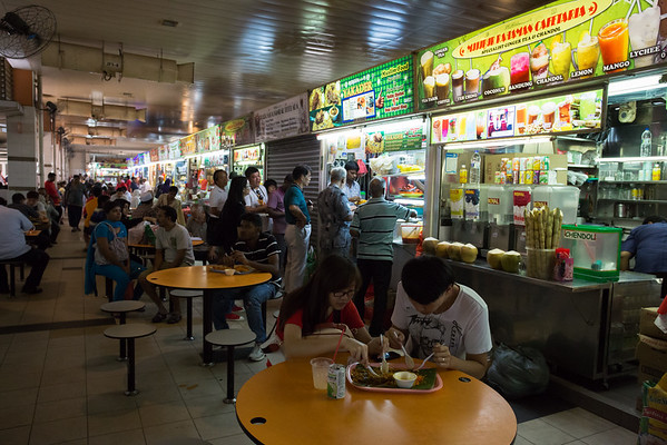 One of the many food courts in town. Very cheap compared to restaurants.