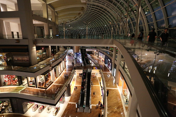 Inside the Mall under Marina Bay Sands.