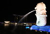 Merlion - a creature with lion head and body of a fish. It is the national personification of Singapore.