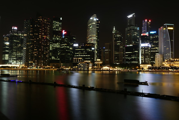 View towards the other side of Marina Bay.