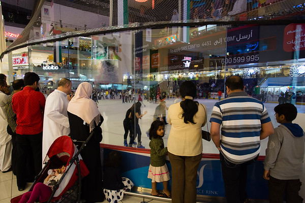 Ice rink inside Mall of Emirates.