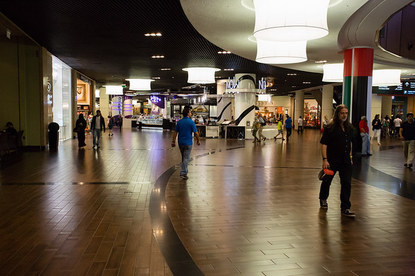 Mall of the Emiratas, a huge shopping center focused on luxury products.