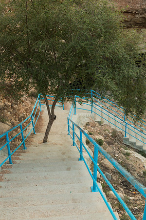 The stairs that take you close were built with nature protection in mind.