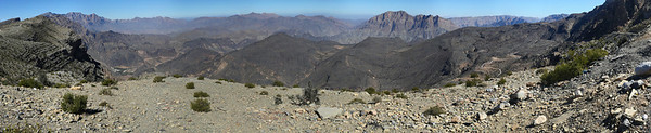 View when the unpaved road ends and descending starts.