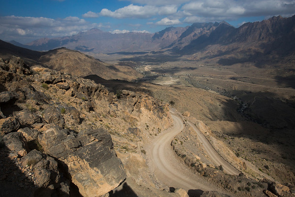 Road to Wakan village, narrow and very steep in some sections that are not visible here. 4x4 is a must.