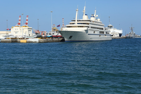 Sultan Qaboos yacht in Muscat.
