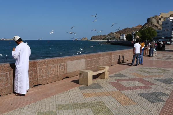 Muscat, near the souk (marketplace).