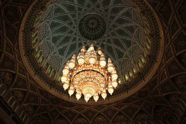 In the middle there is a huge and amazing chandelier of 14 meters tall.