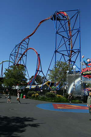 Supermen coaster. Although it doesn't look like, the ride is the most intensive from the park.