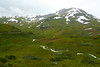 There was still snow in many places at the end of August.