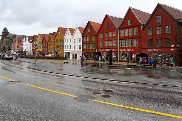 Bryggen, UNESCO protected old merchant quarter of Bergen.