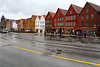 Bryggen, UNESCO protected old merchant quarter of Bergen.