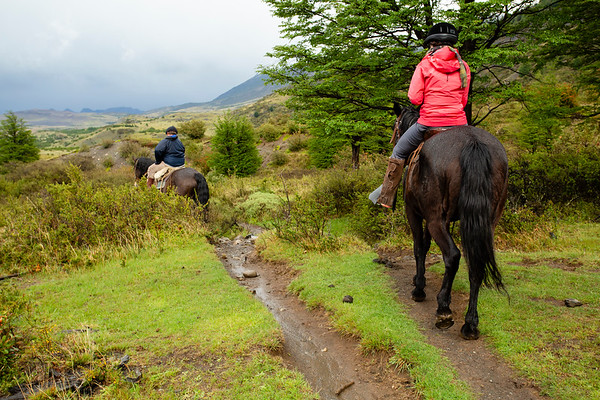 Horse riding is an option at the park entrance. You will need to return in the same day and there are often separated paths for people and horses.