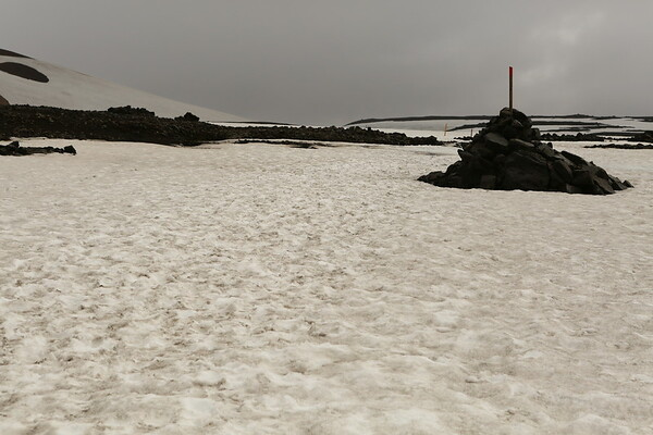 Snow can still be found in the middle of summer in some areas outside the glaciers.