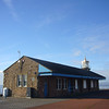 October 2013. Morecambe, Lancashire. The former ferry terminal and miniature lighthouse.