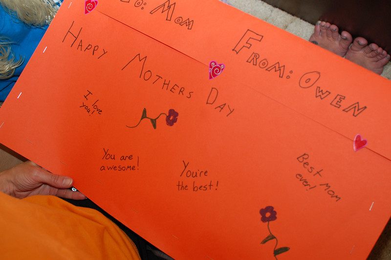 Mother's Day card package from Owen (5.12.13)