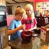 The kids made a chocolate fudge cake for Aimee (5.12.13)
