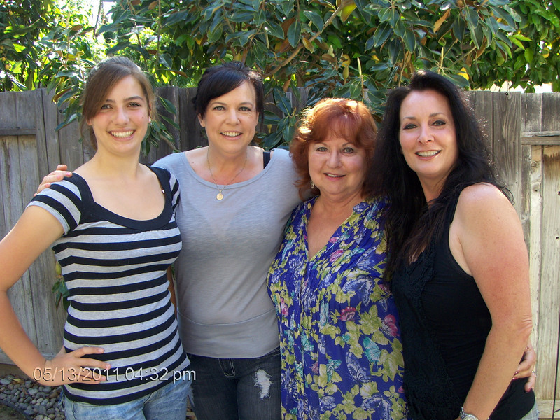 This is four generations of being beautiful.