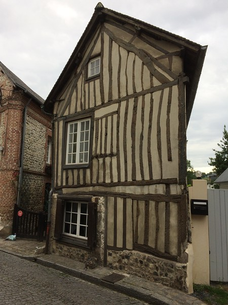 Lovely wonky Honfleur house.