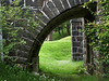 Arch over dry moat at Calgary Castle