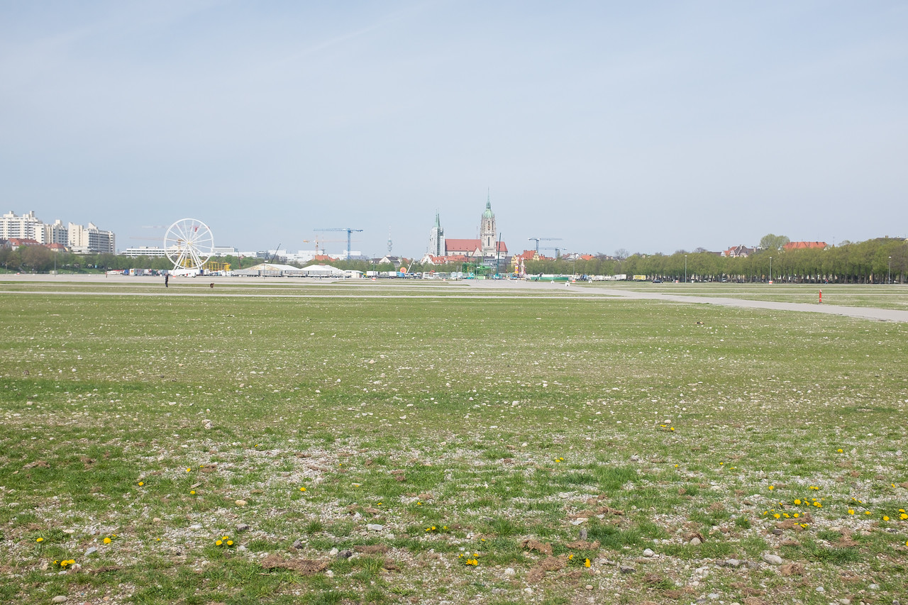 Oktoberfest ground in spring