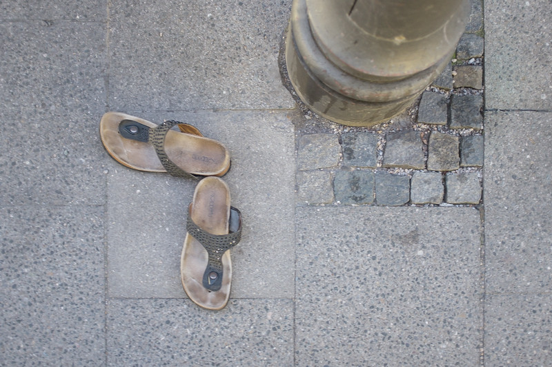 Abandoned sandals