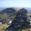 May 2011. Spidean Mialach from the summit of Gleouraich.