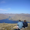 May 2011. The view north from the summit of Gairich (919 m/3015 ft) across Loch Quoich towards Gleouraich.