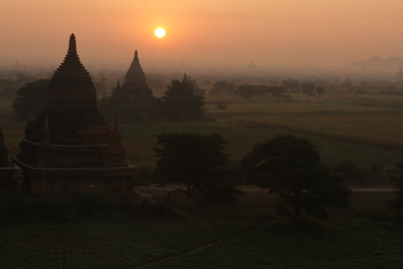 Sunrise. Each morning we went on a small temple where only a few more tourists were coming.