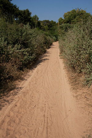 Some roads are sandy making transport by bicycle difficult.