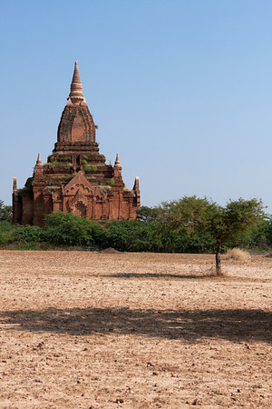 Some temples are not near the road. You have to go through fields or bushes to reach them.