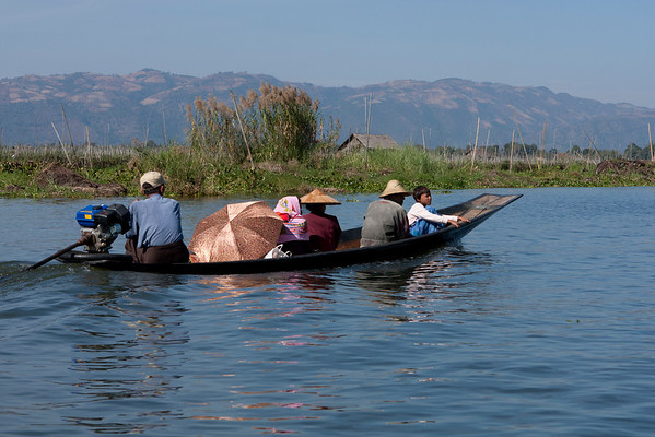 Many villages are not connected to roads so the only mean of transportation is by boat.