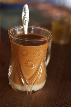 Milk tea. In Tea Shops the Chinese black tea is free. You pay for snacks, cookies or milk tea.