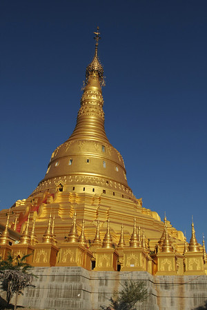 A few km further there is a big golden stupa where you are allowed to climb a couple of levels.