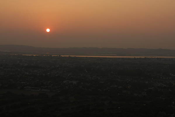 Sunset from Mandalay Hill. Nothing extraordinary and with lots of people watching it.