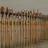 U Bein Bridge before sunset. It's the longest wooden bridge in the world having 1.2 km.