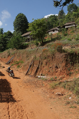 Only some of the villages are accessible by motorbike.