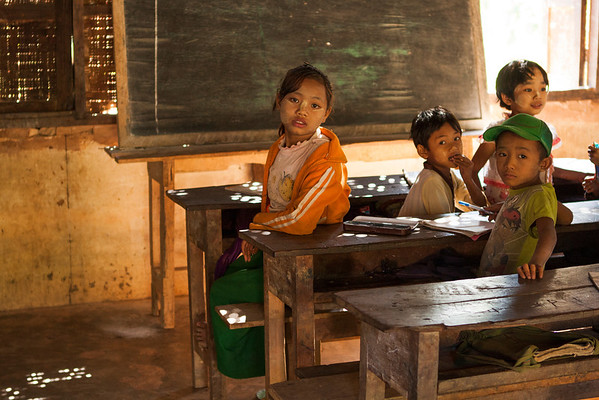 School in the hills. The people are very poor but education is very important for them. The kids are coming from many villages.