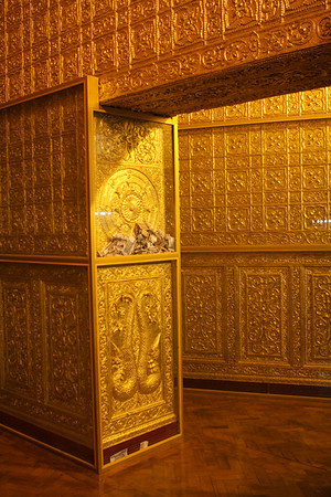 Near Buddha's sacred hair relic.