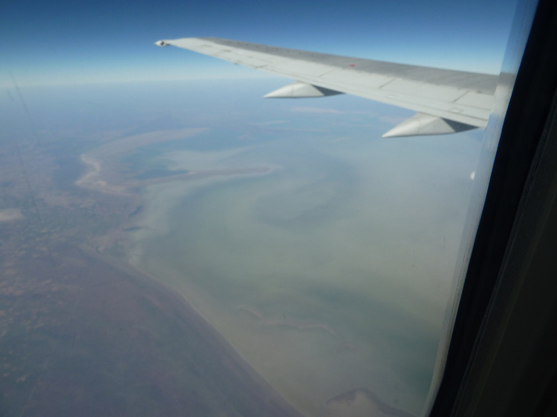 OK - after 4 months stuck in Luanda, its time to escape. Southwards this time to Namibia, and here we're flying over our ultimate destination, the salt pans of the Etosha National Park.