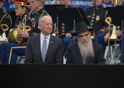 Vice president Joe Biden and Rabbi Abraham Shemtov of American Friends of Lubavitch (Chabad)
