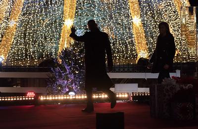 Barack Obama, National Christmas Tree, Michelle Obama