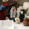 Part of a felted wool Nativity, including a yurt, made in Kyrgystan. Annual display at St. Andrew's Episcopal Church in Ayer of parishioner Carolyn Smith's collection of Nativity creches. (SUN/Julia Malakie)