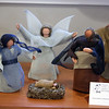 Nativity set made from screen, hand shaped and painted by a woman in Missouri. Annual display at St. Andrew's Episcopal Church in Ayer of parishioner Carolyn Smith's collection of Nativity creches. (SUN/Julia Malakie)