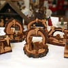 Nativity set from Utah, carved from mountain mahogany wood. Annual display at St. Andrew's Episcopal Church in Ayer of parishioner Carolyn Smith's collection of Nativity creches. (SUN/Julia Malakie)