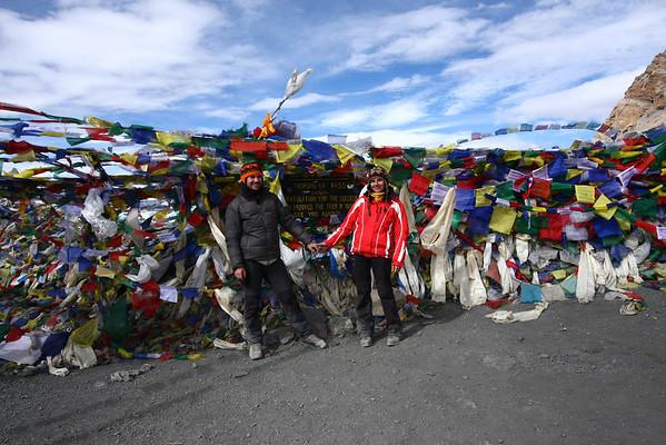 The peak of Annapurna Circuit - 5416 meters.