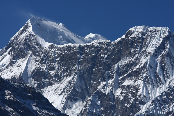 One of the numerous mountain always covered in snow. Along the trail there are peaks of over 8000 meters.